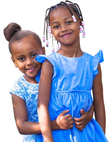 two beautiful girls smiling